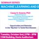 Seminar Series - Machine Learning and Data Science: Casey Greene Talk