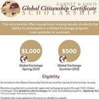Global Citizenship Certificate Scholarship Deadline