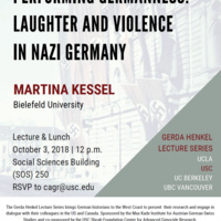 Martina Kessel: Performing Germanness - Laughter and Violence in Nazi Germany (USC Max Kade USC CAGR)