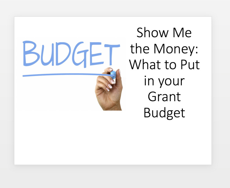 Show Me the Money: What to Put in your Grant Budget