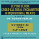 """Talk: """"Beyond Blood: Cross-Cultural Encounters in Inquisitorial Mexico,"""" Dr. Ronnie Perelis (Yeshiva University)"""