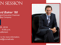 Cornell Baker Program in Real Estate: Open Session with Richard Baker '88