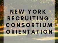 New York Recruiting Consortium Orientation