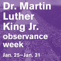 MLK Week Jan. 25-31, 2020