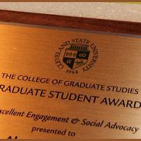 Graduate Student Awards Deadline