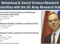 Behavioral & Social Science Research Opportunities with the US Army Research Institute: APPLIED RESEARCH CAREERS ALONG THE SCIENTIST-PRACTITIONER SPECTRUM