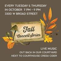 Courthouse Creek Cider's Fall Concert Series at The Highpoint
