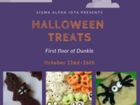 Sigma Alpha Iota Halloween Treats Fundraiser