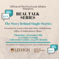 Real Talk Series: The Story Behind Single Stories | Multicultural Affairs