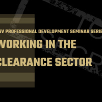 Professional Development Seminar Series: Working in the Clearance Sector