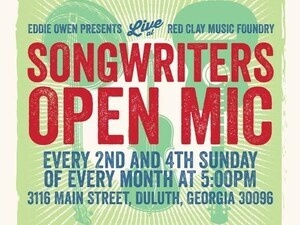 Songwriters Open Mic, hosted by Eddie Owen