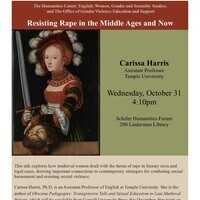 Resisting Rape in the Middle Ages and Now | Humanities Center