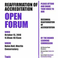 Reaffirmation of Accreditation Open Forum 1