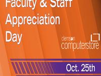 Faculty Staff Appreciation Sale
