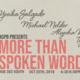 ASPB Presents: More Than Spoken Word