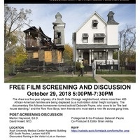 "Film screening: ""The Area"", with discussion featuring Marlon Haywood and David Ansell"