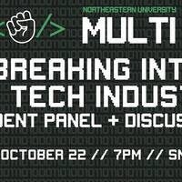 MULTI Meeting - Breaking Into the Tech Industry - Student Panel