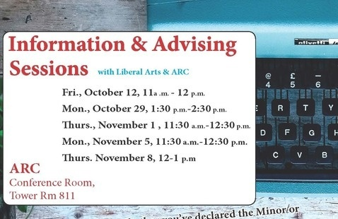 Creative Writing Advising & Info Sessions