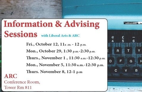 Creative Writing Advising & Info Session
