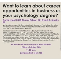 Student Meet & Greet with Ernest Brooks III