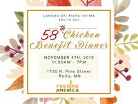 Lambda Chi's 58th Annual Chicken Benefit Dinner