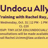 Undocu Ally A Training with Rachel Ray