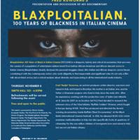Blaxploitalian. 100 Years of Blackness in Italian Cinema
