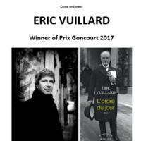 Eric Vuillard, 2017 Prix Goncourt, France