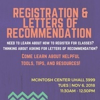 Registration and Letters of Recommendation Workshop