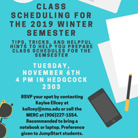 Class Scheduling for the 2019 Winter Semester