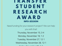 Transfer Student Research Award Info Session
