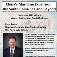 China's Maritime Expansion: the South China Sea and Beyond