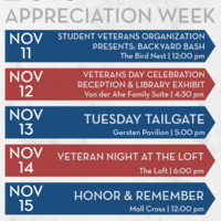Veterans Day Celebration Reception and Library Exhibit