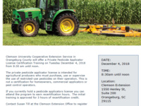 Initial Private Pesticide Applicator Training