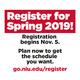 Register for Spring 2019 Classes