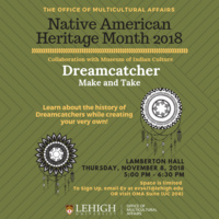 Native American Heritage Month: Dreamcatcher Make and Take | Multicultural Affairs