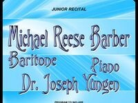 Michael Reese Barber - Junior Recital