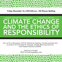 Climate Change and the Ethics of Responsibility