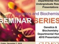 Genetic & Biochemistry Departmental Honors Undergraduate Research Presentations