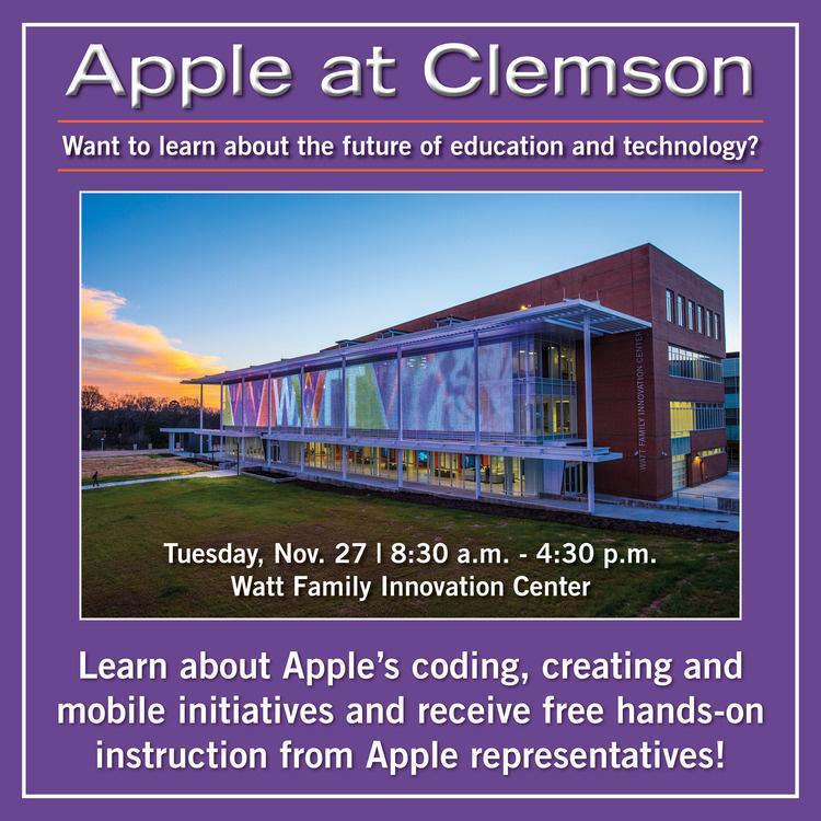 Apple visits Clemson