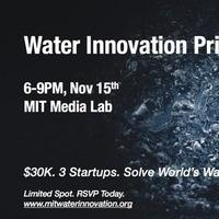 2018-2019 MIT Water Innovation Prize Kickoff Dinner