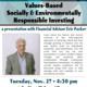 Presentation: Values-Based Socially & Environmentally Responsible Investing