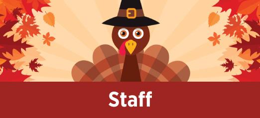 TCC Staff Thanksgiving Break at Districtwide