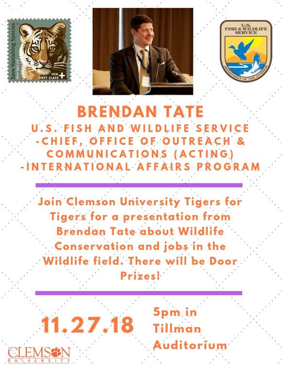 Brendan Tate - Talk on Wildlife Conservation