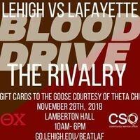 Blood Drive (Lehigh vs. Lafayette Rivalry!)   Community Service