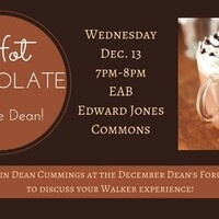 Hot Chocolate with the Dean!