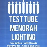 Test Tube Menorah Lighting