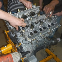 Engine Teardown with Four Wheelers at Michigan Tech 2018