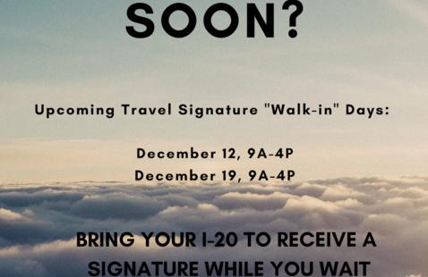 Travel Signature Walk-In Day