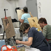 'Painting the Nude Human Form' Winter Painting Classes with Curney Nuffer
